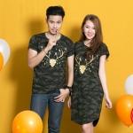 """เสื้อคู่ เสื้อคู่รัก ชุดคู่รัก เสื้อคู่รักเกาหลี เสื้อคู่แฟชั่น ลาย """" Little Soldier"""" ADX015"""