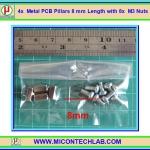 4x เสารองแบบเหลี่ยม 8 มม. 8x สกรู M3 (Pillars 8 mm)