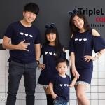 เสื้อครอบครัว ชุดครอบครัว ผ้าเนื้อนิ่มแขนยาว มาครบ พ่อ แม่ ลูกสาว ลูกชาย : FC 0033