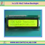 1x LCD 16x2 Yellow Backlight