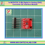 1x MCP4725 12-Bit Digital to Analog (DAC) Converter I2C Interface Module