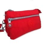 กระเป๋าคล้องมือ ผ้าเนื้อ Kipling สีแดง
