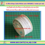 1x Wire Wrap Cable White color AWG#30 (1 meter per set)