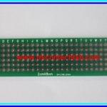1x พีซีบีไข่ปลา 2x8 ซม. แบบ 2 หน้า FR4 (Prototype PCB)