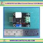 1x WCS2702 Hall Effect DC and AC Current Sensor +/- 0-2A Module