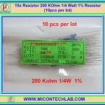 10x Resistor 200 KOhm 1/4 Watt 1% Resistor (10pcs per lot)