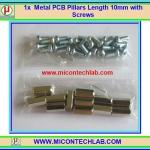 12x เสารองแบบเหลี่ยม 10 มม. 24x สกรู M3 (Pillars 10 mm)