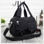 กระเป๋าเนื้อ kipling + สะพาย ใบเล็ก สีดำ