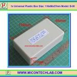 1x Model:B-00 Plastic Box Size:116x66x37mm