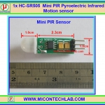 1x HC-SR505 Mini PIR Pyroelectric Infrared Motion sensor HCSR505