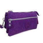 กระเป๋าคล้องมือ ผ้าเนื้อ Kipling สีม่วง