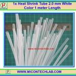 1x Heat Shrink Tube 2.0 mm White Color 1 meter Length (ท่อหดสีขาวใส)