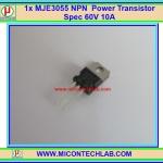 1x MJE3055 NPN Power Transistor Spec 60V 10A