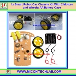 1x Smart Robot Car 2WD Wheel Drive Chassis Kit With Motors and Wheels AA Battery Case