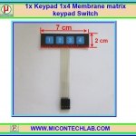 1x Keypad 1x4 Membrane matrix keypad Switch