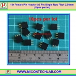 10x Female Pin Header 1x3 Pin Single Row Pitch 2.54mm (10pcs per lot)