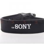 สายคล้องกล้อง Sony White on Black Neck Strap Neoprene