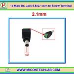 1x ดีซีแจ๊คตัวผู้ 5.5x2.1 mm แบบสกรูขัน (DC Jack)