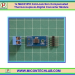 1x MAX31855 Cold-Junction Compensated Thermocouple-to-Digital Converter Module