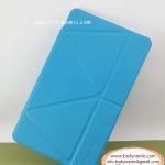Clearance sales เคสหนัง Samsung TabS 8.4 ยี่ห้อ Onjess (Smart cover) สีฟ้า ปกหลังใส