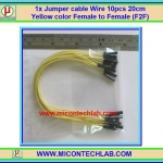 1x Jumper (F2F) cable Wire 10pcs 20cm Yellow color Female to Female (F2F)