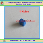 1x Trimpot 1 Kohm 1 Turn Potentiometer Variable Resistor 3362 Series