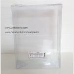 กล่องพวงมาลัย ขนาด กว้าง 7.5 x ยาว 10.5 x ลึก 2.75 นิ้ว หรือ ขนาด กว้าง 19.1 x ยาว 26.7 x ลึก 7 cm
