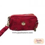 กระเป๋าคล้องมือ Lingky ผ้าทอ สีแดง