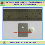 1x TO-220 MICA Isolation Pad + Bushing Washers TO-220 for Heatsink Transistor MOSFET TO 220 Package