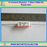 1x Cement Resistor 1 Ohm 3 Watt 5% Royal ohm