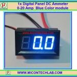 1x Digital Panel DC Ammeter 0-20 Amp Blue Color module