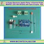 1x IRFZ44 Power Electronic Switch Relay 1-Channel Kits Power MOSFET (55V 49A IRFZ44) with Opto-Coupler