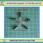 5x Electrolytic Capacitor 1uF 50V (5pcs per lot)