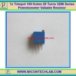 1x Trimpot 100 Kohm 25 Turns 3296 Series Potentiometer Valiable Resistor