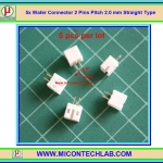 5x Wafer Connector 2 Pins Pitch 2.0 mm Straight Type