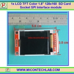 "1x LCD TFT Color 1.8"" 128x160 SD Card Socket SPI Interface module"