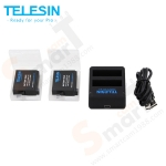 TELESIN (4-in-1) Battery set For GoPro Hero4