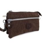 กระเป๋าคล้องมือ ผ้าเนื้อ Kipling สีน้ำตาล