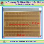 1x แผ่นพีซีบี 902 ลายเบรดบอร์ด ขนาด 11.5x16.6 ซม (Prototype PCB 902)