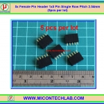 5x Female Pin Header 1x5 Pin Single Row Pitch 2.54mm (5pcs per lot)