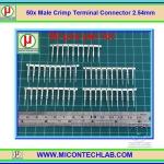 50x Male Crimp Terminal Connector 2.54mm (ไส้ไก่แบบขาตัวผู้)