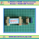 1x RS232 to RS485 Serial Converter Module + RS485 DB9 Terminal