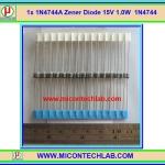 1x 1N4744A Zener Diode 15V 1.0W 1N4744