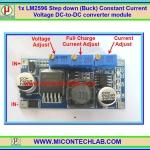 1x LM2596 Step down (Buck) Constant Current Voltage CC CV DC-to-DC converter module