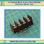 1x Terminal Block 10 mm 4 Pins 300V/25A Connector Barrier Type