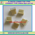 5x WAFER CONNECTOR 5 PINS STRAIGHT TYPE 2.54mm (5pcs per lot)