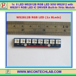 1x WS2812B RGB (1x8) LED 5050 WS2812 with WS2811 RGB LED IC DRIVER Built-In 5Vdc Module