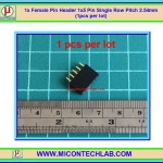 1x Female Pin Header 1x5 Pin Single Row Pitch 2.54mm (1pcs per lot)