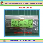 100x Resistor 330 Ohm 1/4 Watt 5% Cabon Resistor