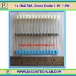 1x 1N4739A Zener Diode 9.1V 1.0W 1N4739